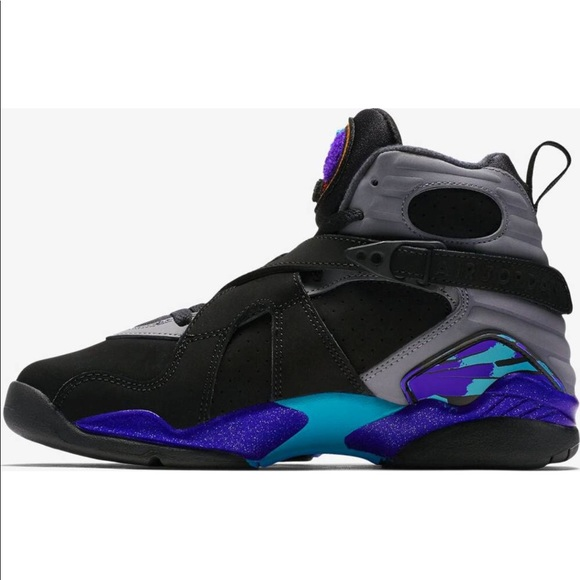 38e74a6ae19f74 Nike Air Jordan 8 Retro Aqua black shoes